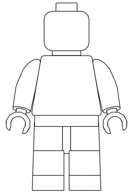 lego minifigure template minifigure stencil this is a stencil drawing of a lego