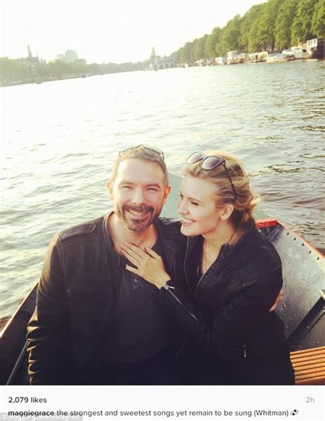 Grace On Marriage By Of maggie grace posts snap of new fiance brent bushnell