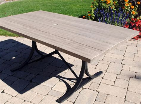 patio furniture boulder backyard creations boulder creek table at menards 174