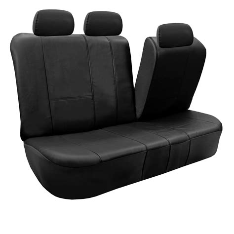leather bench seat cover pu leather auto seat covers set air bag safe split