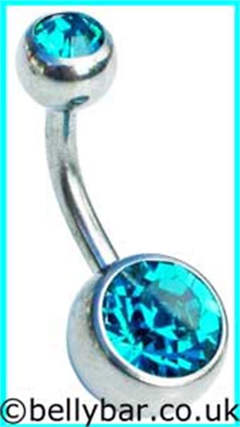 top and bottom belly bars jewelled titanium belly bars made in the uk