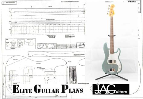 bass guitar templates bass guitar plans elite guitar plans