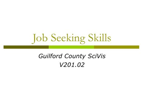 seeking skills