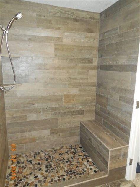 porcelain tile for bathroom shower wood plank porcelain tile shower with width bench 2
