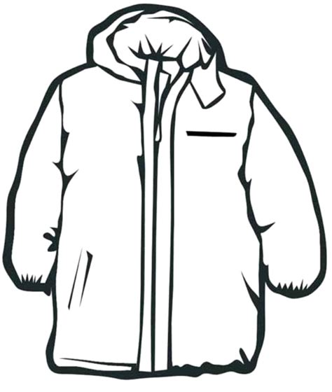 coloring page winter jacket drawn coat winter jacket pencil and in color drawn coat