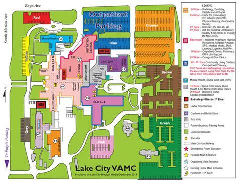 Lake City VA Medical Center Parking Map   North Florida