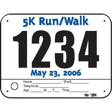 running bib template custom race bibs color imprint