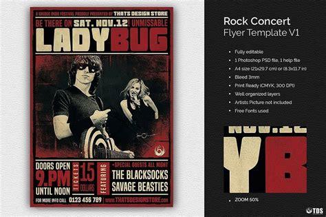 Rock Concert Flyer Template Concert Flyer Template