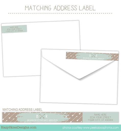 birth announcement template banner and arrow