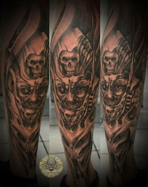 whole leg tattoo designs horror tattoos on whole leg tattooshunt