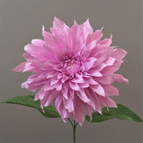 crepe paper dahlia single stem wedding flowers by