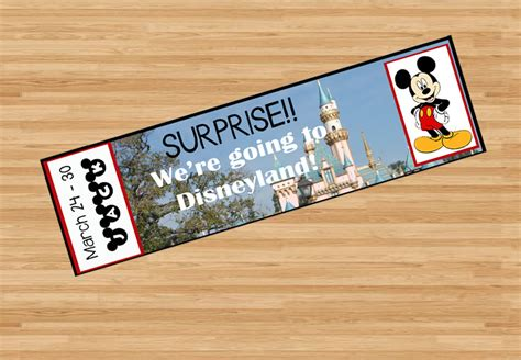 printable disneyland tickets printable ticket to disneyland disney world with custom name