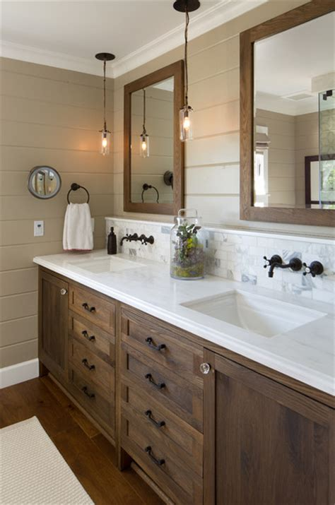 bathroom mirrors san diego coastal ranch farmhouse bathroom san diego by anne