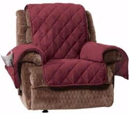 Covers For Recliners Sure Fit Microfleece Recliner Furniture Cover Non Slip Burgundy Ebay
