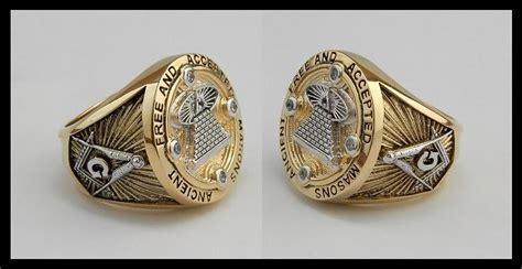 Handmade Masonic Rings - masonic custom made all seeing eye ring unique 18k 2tone