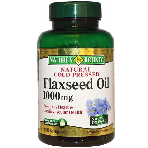 Flaseed Natures Bounty nature s bounty cold pressed flaxseed 1000 mg 120 softgels iherb