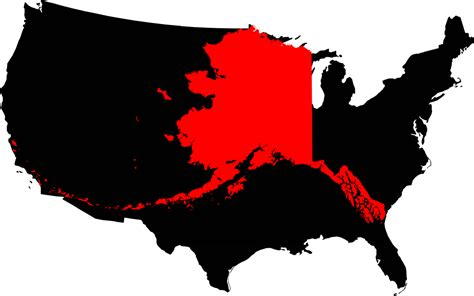 where is alaska on the united states map file alaska compared to the united states map png