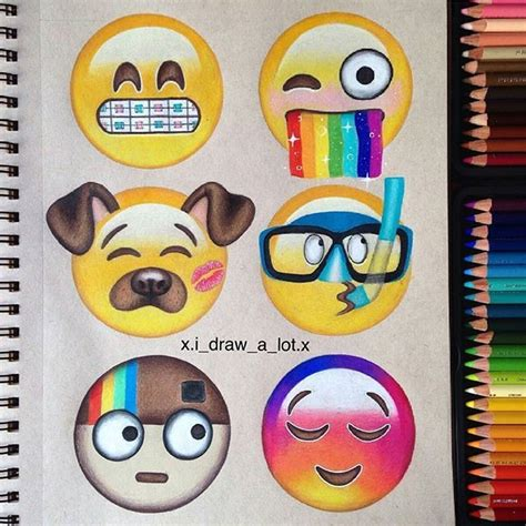 Drawing Emojis by Creative And Emojis By Xi Draw A Lot X Follow