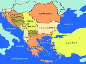 map of southeastern europe including area to the east of
