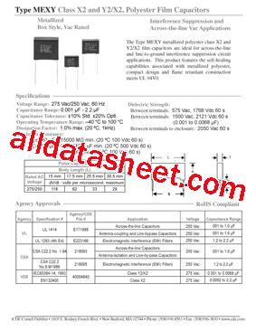 cde capacitor datasheet mexy2a155k datasheet pdf cornell dubilier electronics