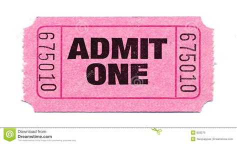 movie ticket stock photo image 833270