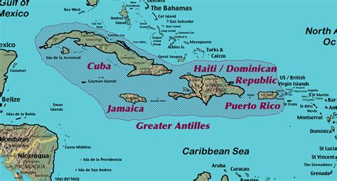 antilles islands map the gallery for gt greater and lesser antilles map