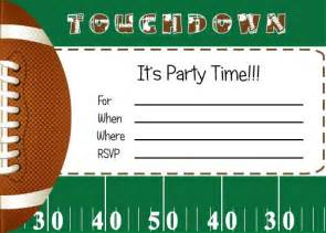 25 best ideas about football invitations on football themed