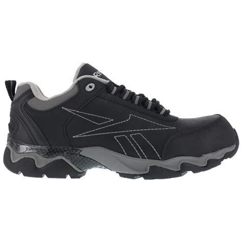 black oxford work shoes reebok beamer rb1062 mens black composite toe eh athletic