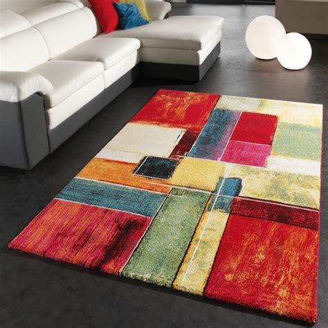 teppiche kaufen teppich modern splash designer teppich bunt karo model neu