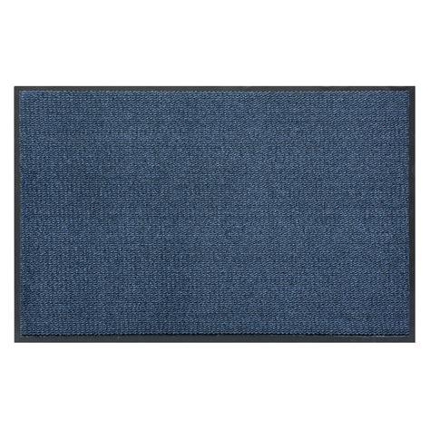 Barrier Mat by Door Entrance Barrier Mat Basic Clean Mottled Blue
