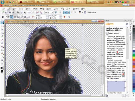 cara edit foto corel draw cara 2 memisahkan memotong background gambar di corel draw