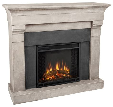 real torrence cinder electric cast fireplace