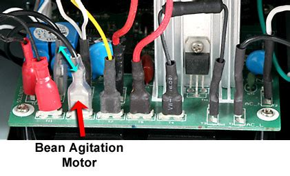 motor agitation hottop repair procedure bean cooling agitation arm motor