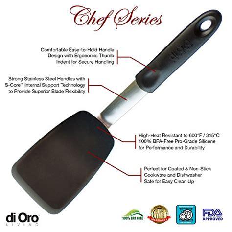 di oro living chef series flex silicone spatula 600 186 f heat