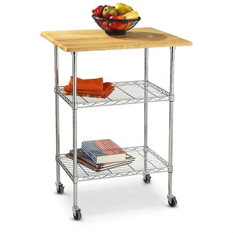 kitchen cart with butcher block top 282878 kitchen