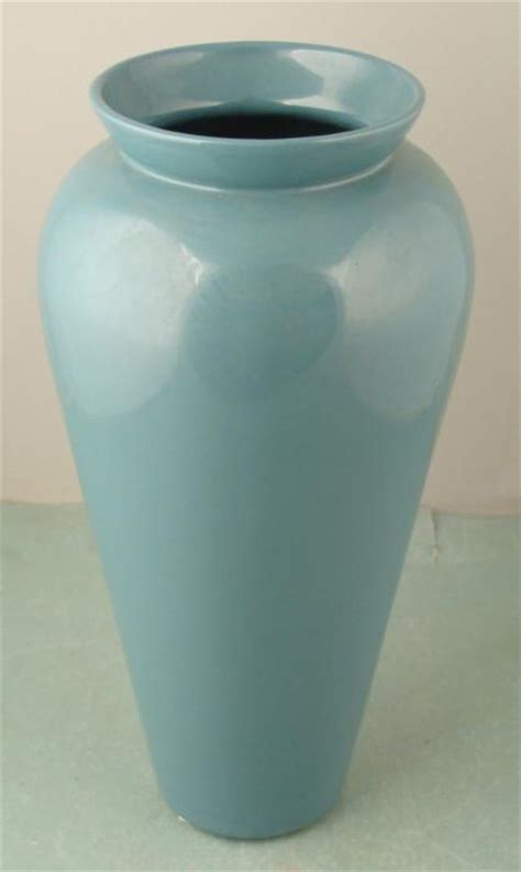 Large Teal Floor Vase Large Haeger Pottery Teal Blue Vase 1980s Decor