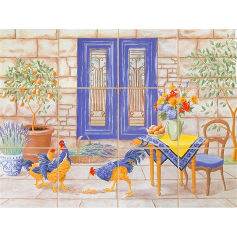 home depot wall murals imagine tile country 24 in x 18 in ceramic mural wall tile 3 sq ft 3301es06