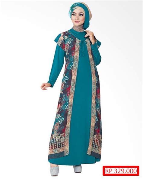 Baju Gamis Batik Kombinasi 31 Model Baju Batik Kombinasi Gamis Terbaru Cantik Dan