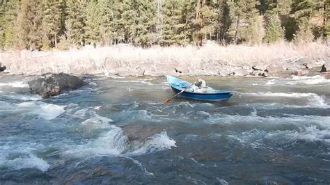 drift boat chain anchor drift boat on blackfoot river western montana youtube