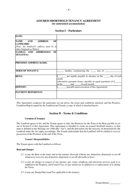 periodic tenancy agreement template uk best photos of tenancy agreement form template free