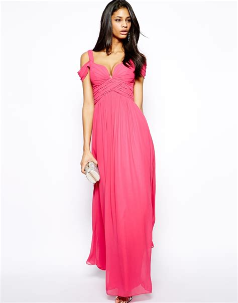 Bw0051 Maxi Dress Pink lyst forever unique sweetheart maxi dress with