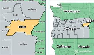 baker county oregon map of baker county or where is