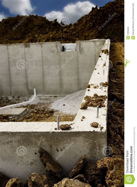new home foundation new home foundation slab construction with reinforced concrete stock photo cartoondealer