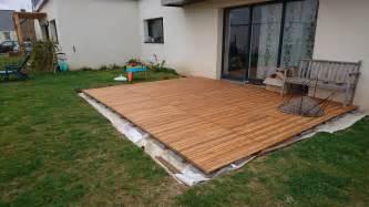construire sa terrasse sur de la terre meuble notre