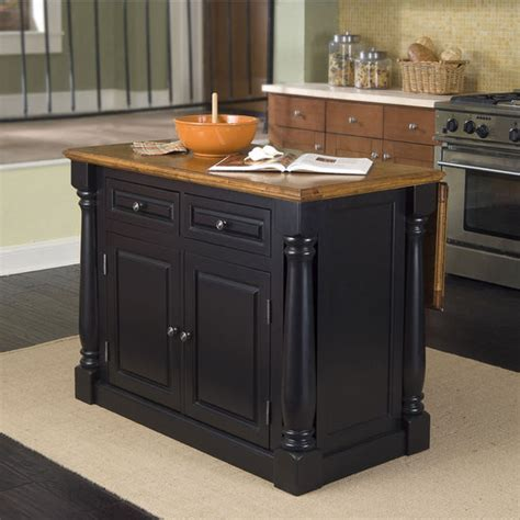 Monarch Kitchen Island Kitchen Islands Monarch Kitchen Island By Home Styles With Black Oak Finish Kitchensource