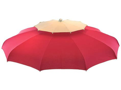 Double roof windproof beach umbrella