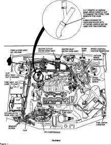 94 ford taurus hose the whater to the heater part number
