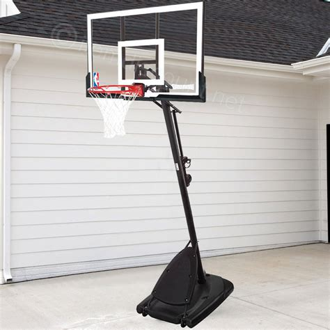 nba spalding 54 quot portable basketball clear backboard court