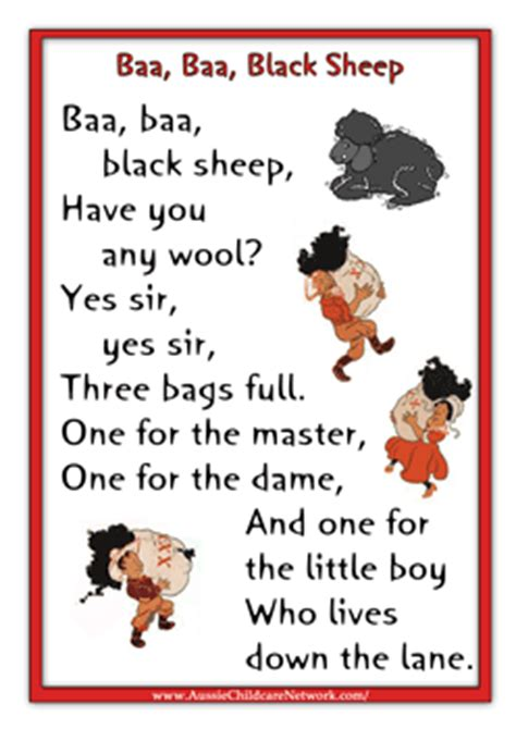 printable free nursery rhymes baa baa black sheep a ton of nursery rhyme printouts