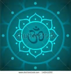 Lotus Flower With Om Symbol Vector Om Symbol With Lotus Flower Illustration Stock Vector